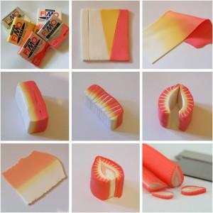 Урок полимерная глина мини-еда - клубника 1
