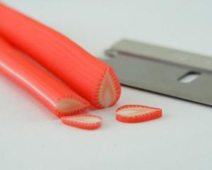 Урок полимерная глина мини-еда - клубничка 2